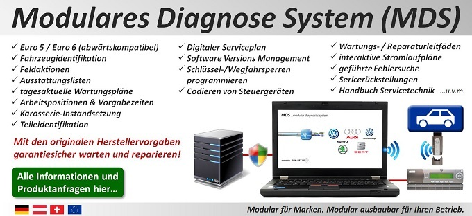 Modulares Diagnose System (MDS): Modular für Marken. Modular ausbaubar für Ihren Betrieb.