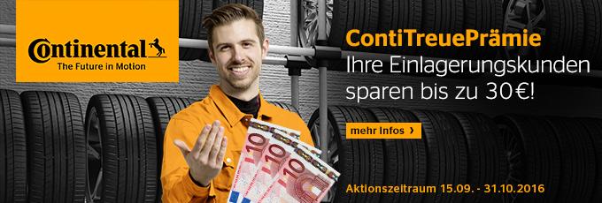 ContiTreuePrämie: Ihre Einlagerungskunden sparen bis zu 30 Euro!